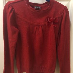 3/$25 Children's Place Red Sparkly Sweater